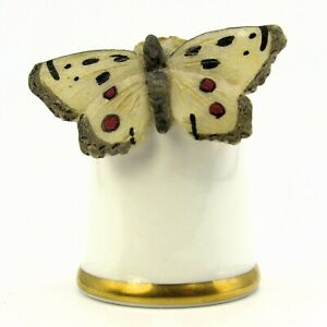 SUTHERLAND COLLECTABLE THIMBLE 'APOLLO, PARNASSIUS APOLLO' BUTTERFLY