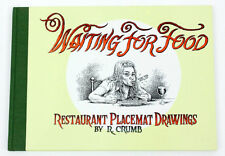 WAITING FOR FOOD Restaurant Placemat Drawings R. Crumb