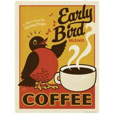 Early Bird Coffee Decal Peel and Stick Decor