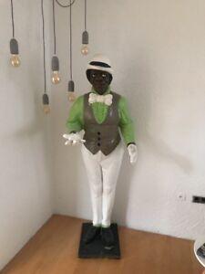 Lebensgroße Butler-Figur, Dekoration für Gastronomie, Statue, Gipsfigur, 2m