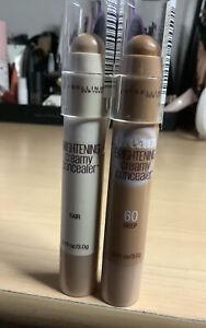 Maybelline Concealer Dream Brightening Stick Fair 10 & Deep 60 NEW 0.11 oz X 2