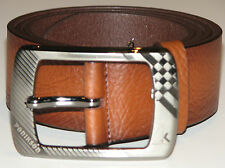 New Mens Brown Leather Belt Size 40  -  102cm     (B106)