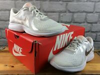 NIKE LADIES UK 5.5 EU 38.5 REVOLUTION 4 RUNNING TRAINERS METALLIC WHT/ROSE GOLD