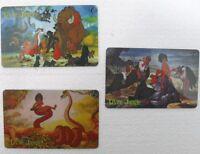 """serie di 3 schede """"IL LIBRO DELLA GIUNGLA-carte internazionali SEPA TELEPHONIQUE"""