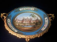 A Big14''Sevres plate from 1874,Chateau de Chambord/double L&Sevres mark