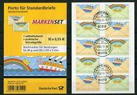 Bund 5 x 2848 - 2849 Folienblatt FB 13 gestempelt ETST Frankfurt Selbstklebende