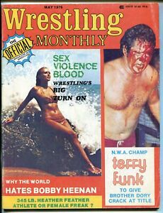 Wrestling Monthly 5/1976-pix-info-Bobby Heenan-Terry Funk-Dory Funk-VG