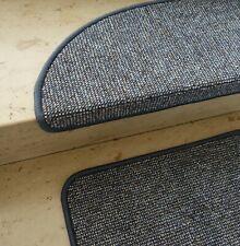 """Schicke Stufenmatte """"TIM TWEED"""" Blau / Beige mit Metallwinkel viele Größen"""