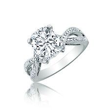 GIA Certified Diamond Engagement Ring 2.00 Carat  Cushion Cut Platinum