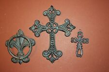 (3), Fleur De Lis Door Knocker, Fleur De Lis Entry Door Decor, Bronze-Look