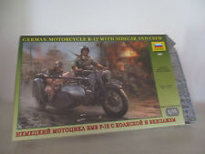 GERMAN MOTORCYCLE R-12 WITH SIDECAR AND CREW KIT MONTAGGIO ZVEDA NO.3607  1:35