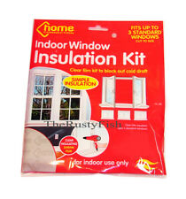 DIY WINDOW INSULATION KIT COLD DRAUGHT EXCLUDER SHRINK FILM & DOUBLE SIDED TAPE