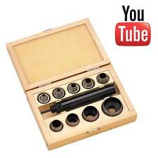 Clarke 10 Pce Wad Punch Set 5,6,8,10,12.5,15,22,25,32mm poinçons + Poignée CHT528