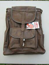 *New* Vintage 1990s Marlboro Unlimited Genuine Leather Rucksack / Backpack Bag