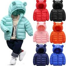 Child Kid Girl Boys Winter Warm Hooded Coat Padded Puffer Down Jacket Outerwear