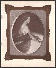 Programme Ballets Russes. Tournée Anna Pavlova. Théatre des Champs-Elysees. 1930