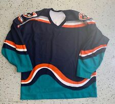 New York islanders blue wave fisherman jersey with crest removed Team issue rare