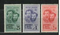 s33555 ITALIA RSI 1944 MNH Fratelli Bandiera 3v
