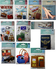 NEW TRAVEL * Your Choice * Vacation Passport Airplane Luggage JOLEES 3D Stickers