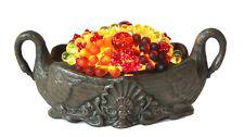 Antique 1900s Czechoslovakia Beaded Fruit Lamp in Figural Urn Czech
