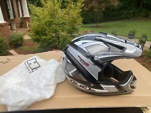 HJC CL-X4 Fuel MX Motocross Helmet Black Silver White Pre Owned XXXL- clean