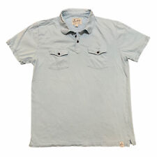 Lucky Brand Polo Shirt Mens Large Blue Rugby Cotton Casual Adult
