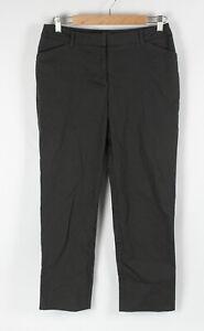 SPORTSCRAFT Sz 10 Womens Ankle Pants Dark Grey Stretch Mid Rise Straight Leg