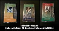 The Blues Collection 3 x Cassette Tapes BB King, Robert Johnson & Bo Diddley