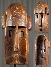 N1 Art Africain superbe masque Dogon Mali 32cm esthétique épurée primaire déco