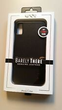 Casemate Barely There IPhone XS Max Black Leather Case