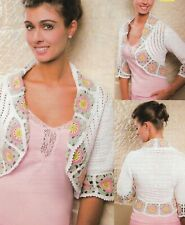 Summer Sorbet Bolero Sweater 4 Sizes Women'S Crochet Pattern Instructions