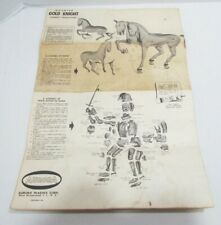 Aurora 1957 Original Instructions Only for Mounted Gold Knight Of Nice Model Kit