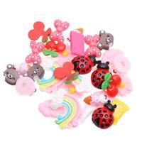 10X Cute M Bean Diy Hairpin Phone Decor Crafts Scrapbook Dollhouse Decoration#/%