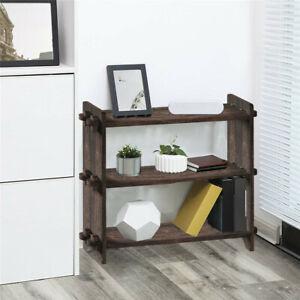 3-Tier Utility Storage Shelf Rack Bathroom Towel Shelf Kitchen Organizer Wooden