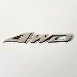 3D Plata Metal Cromado 4WD Insignia Pegatina Para Citroen DS3 DS4 DS5 Berlingo