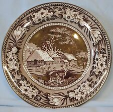 Wedgwood Fallow Deer Brown with Gold Salad Plate