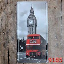 Metal Tin Sign london street sight Bar Pub Home Vintage Retro Poster Cafe ART