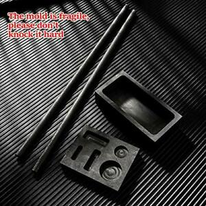 4pcs Graphite Casting Ingot Mold Stir Rod Stick Set Coin Combo Metal Refining