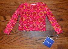 NWT Marimekko for Target Girls Swim Suit Rash Guard Appelsiini Pink Print Sz 9m