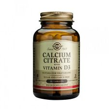 Solgar Calcium Citrate with Vitamin D3 Tablets 60