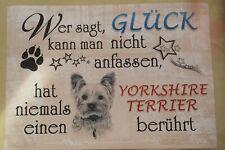 Metall Schild Hunde sind meine Lieblingsmenschen 40x20cm Tafel Geschenk