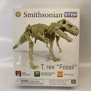 "SMITHSONIAN STEM BUILD A T REX FOSSIL TOY SET OVER 10"" long AGES 8+: NEW IN BOX"