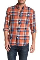 Lucky Brand Mens Flannel Plaid California Fit Button Up Front Shirt Sz L