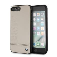 BMW iPhone 8 Plus & iPhone 7 Plus Case Taupe Hard Genuine Leather