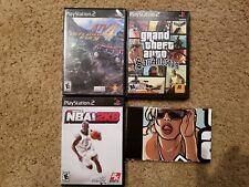 Playstation 2 Lot: Grand Theft Auto San Andreas, ATV Offroad Fury 4, NBA 2K8
