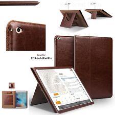 NEW Slim Premium Genuine Leather Case for Apple iPad Pro 12.9 Tablet Bag Cover