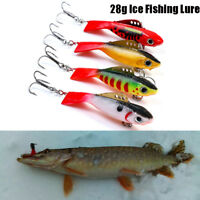 Minnow Winter Fishing Lure Crank Bait Hooks Bass Ice Fishing Crankbait Tackle..