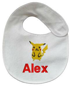personalised embroidered baby bib vest babygrow bodysuitsleepsuit pokemon