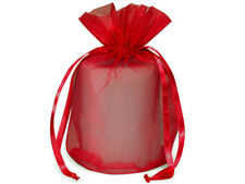 12 Red Organza Gift Wrap Bags Christmas Holiday Candles Gifts Weddings Favors