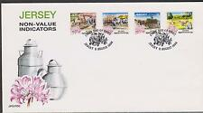 Go Jersey 1998 DAYS GONE Buy non Value Ind S/A SG 870/3 FDC Flowers Horses Lily